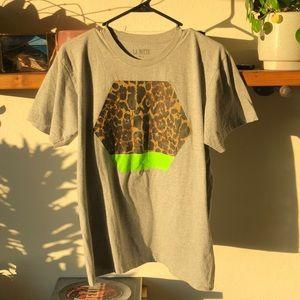 Aritzia La Notte Leopard Green T Shirt M/L